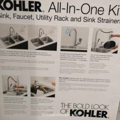 Soap Dispenser For Kitchen Cabinets Refacing Cost Kohler All-in-one Kit
