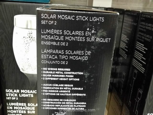 Manor House Solar Mosaic Stick Lights