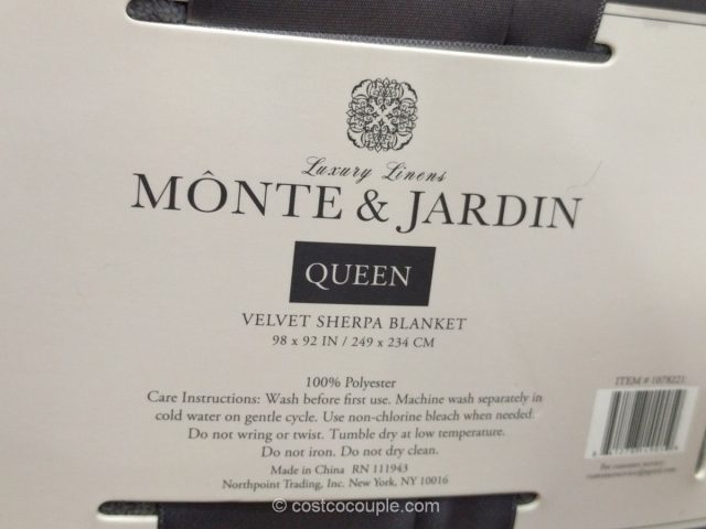 Monte and Jardin Velvet Sherpa Blanket