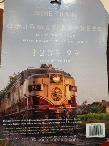 Napa Valley Wine Train Gourmet Express