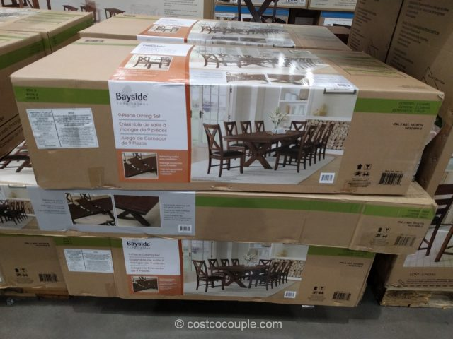 set of 8 dining chairs under chair table bayside furnishings 9-piece