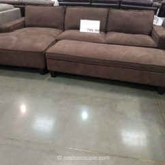 Chaise Sofa With Ottoman Costco Jupiter Queen Sleeper Sectional Storage