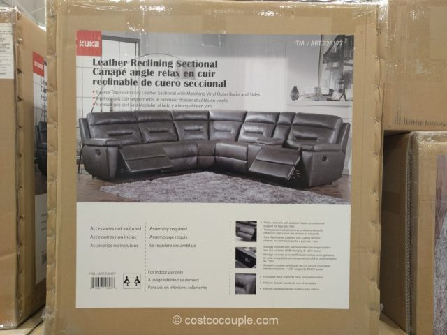 Kuka Leather Reclining Sectional