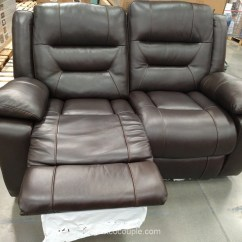 Electric Reclining Sofa Costco Three Seater Cover Leather Recliner Chairs