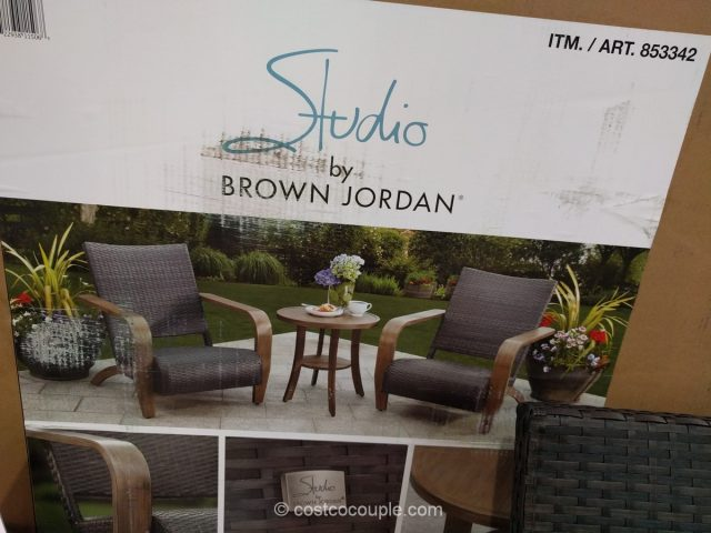 lounge chair with canopy kneeling design brown jordan 3-piece adirondack set