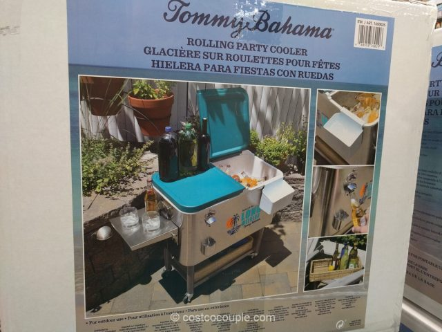 Tommy Bahama Stainless Steel Rolling Cooler
