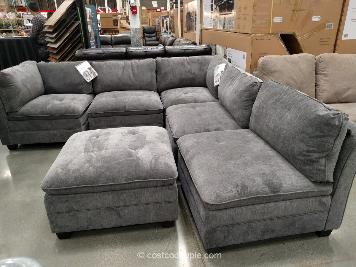 6 piece modular sectional sofa natalia leather marks and cohen taylor 7