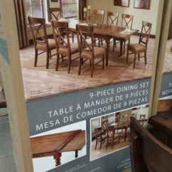 Costco Dining Table And Chairs Easy Chair Yoga Bainbridge Home 9-piece Set
