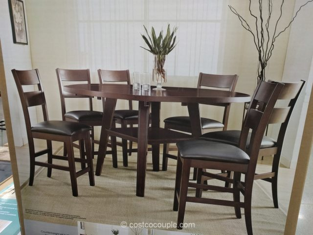 counter height chairs set of 2 revolving chair with headrest bayside furnishings 7-piece dining