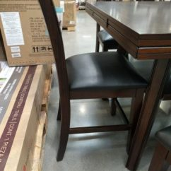 Costco Dining Table And Chairs Inflatable Chair Bed Bayside Furnishings 7-piece Counter Height Set