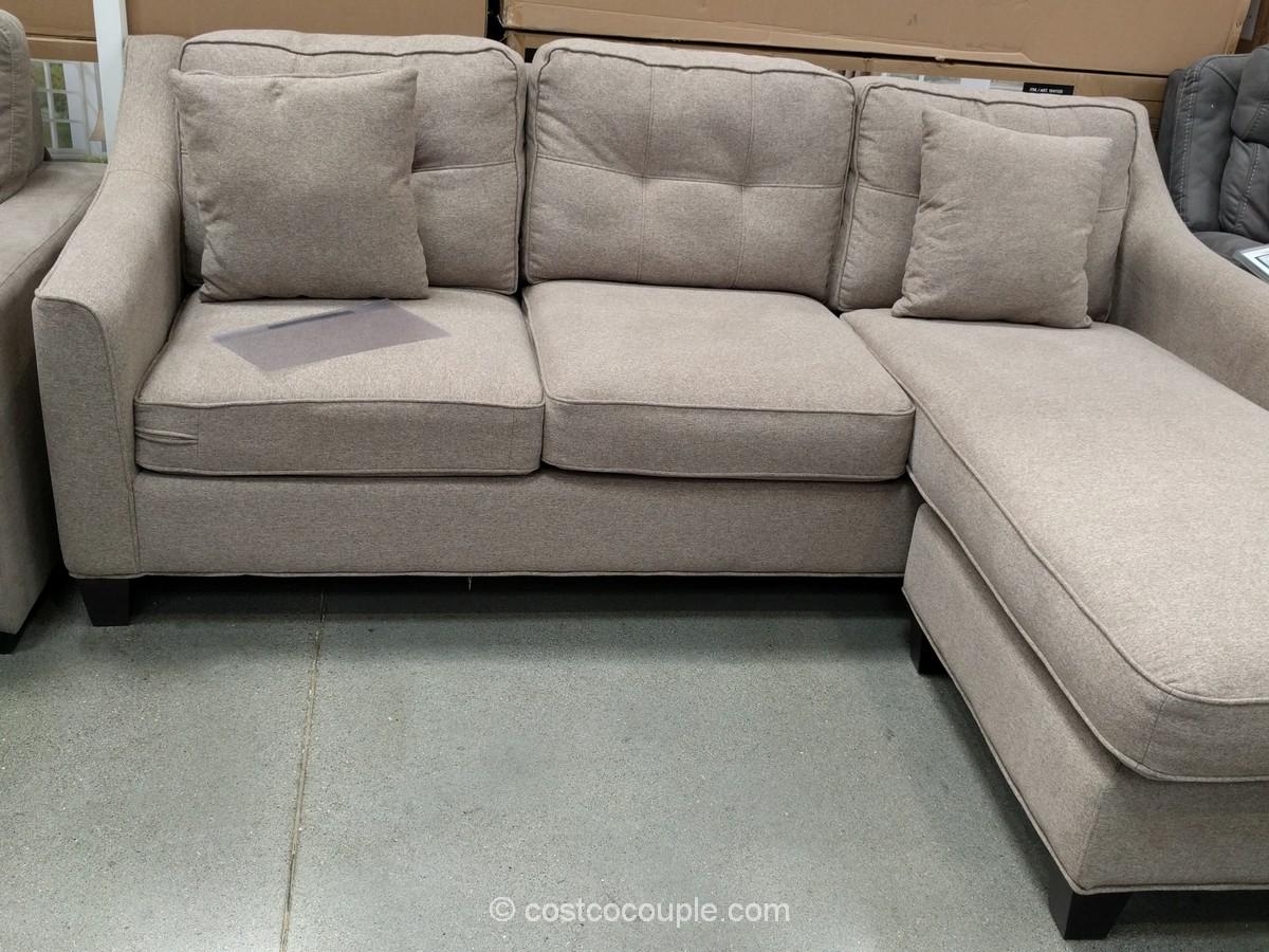 costco fabric reclining sofa dark blue velvet living room bainbridge 4 piece sectional