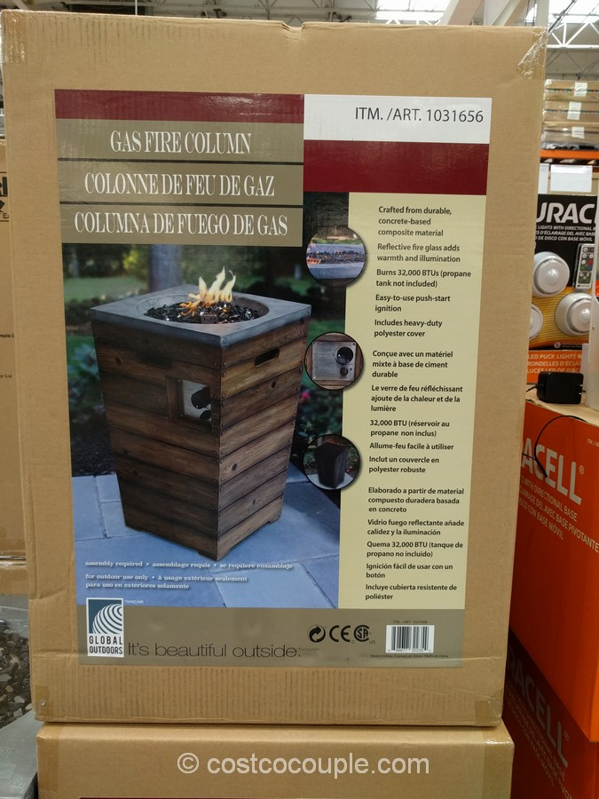 Global Outdoors 27Inch Gas Fire Table