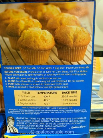 Famous Daves Corn Bread Mix