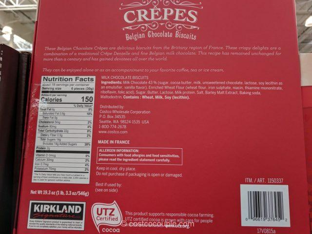 Kirkland Signature Belgian Chocolate Crepes