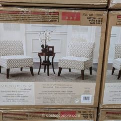 Costco Dining Chairs Tufted Leather Desk Chair Ave Six 3-piece Fabric And Accent Table Set