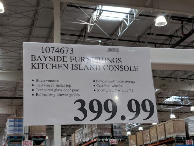 kitchen cabinet pricing caddy bayside furnishings island console