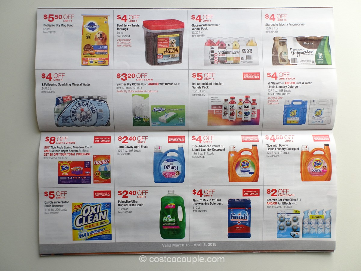 Costco March 2018 Coupon Book 031518 to 040818