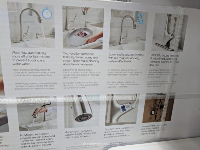touch free kitchen faucet desks kohler malleco touchless pull-down