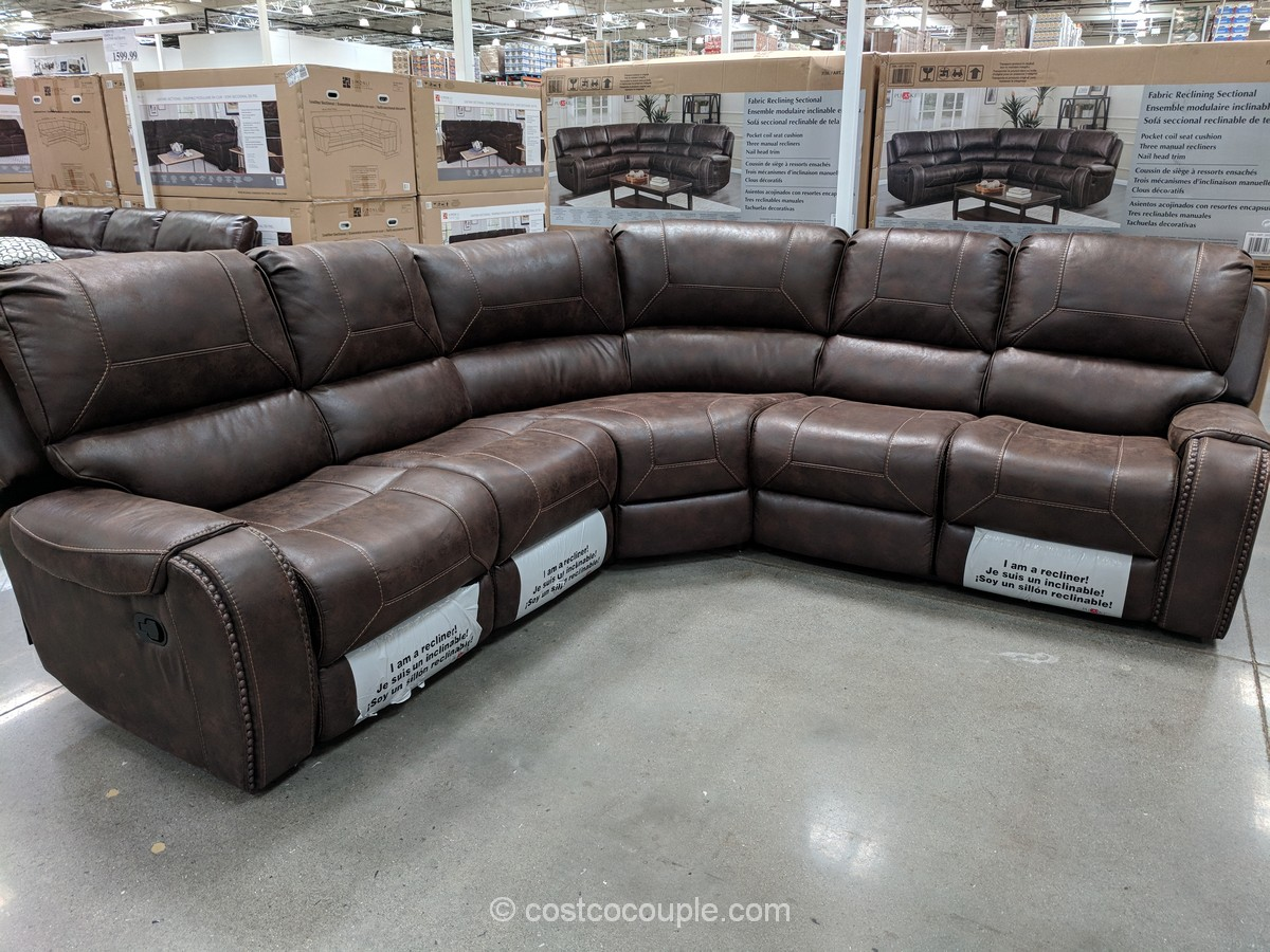 costco fabric reclining sofa mart enduro suede cleaner lanza products 48 inch single sink wood vanity