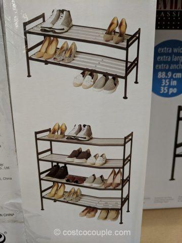 kitchen pot racks menards backsplash seville classics stacking shoe rack