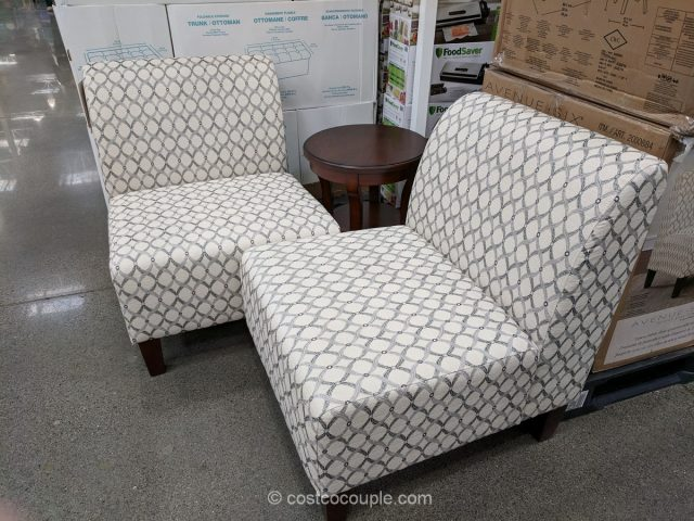 ave six chair navy blue rocking cushion set and table costco