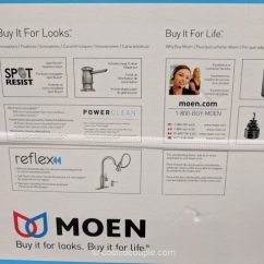 Moen Kitchen Faucet Installation 3 Basin Sink Zabelle
