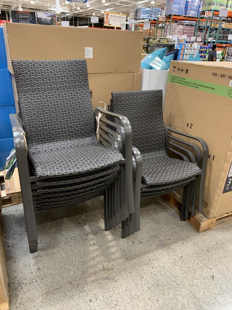 costco woven stack chair commercial