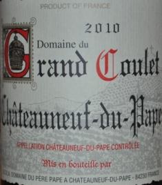 Domaine du Grand Coulet Chateauneuf-du-Pape