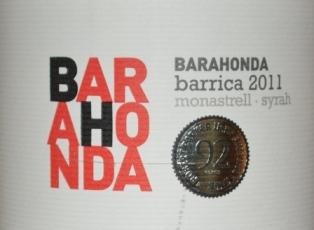 2011 Senorio de Barahonda Barrica