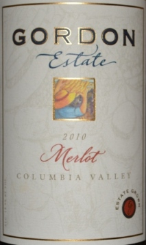 2010 Gordon Estate Columbia Valley Merlot