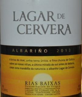 2013 Lagar de Cervera Albarino Rias Baixas
