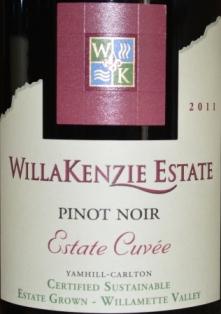 2011 WillaKenzie Estate Cuvee Pinot Noir