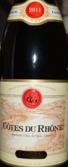 2011 E Guigal Cotes du Rhone Rouge