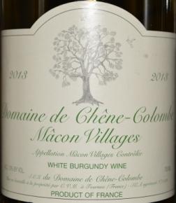 2013 Domaine de Chene-Colombe Macon Villages