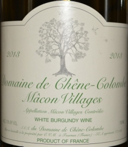 2013 Domaine de Chene-Colombe Macon Villages