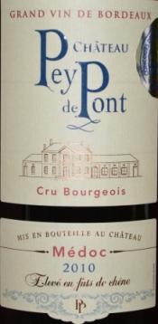 2010 Chateau Pey de Pont Medoc Bordeaux