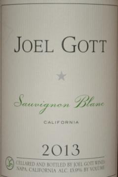 2013 Joel Gott Sauvignon Blanc