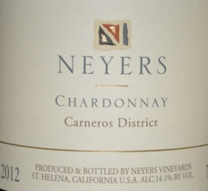 2012 Neyers Carneros Chardonnay