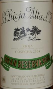 2004 La Rioja Alta Gran Reserva 904