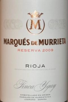 2009 Marques de Murrieta Finca Ygay Reserva Rioja