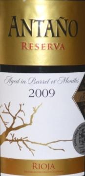 2009 Antano Rioja Reserva