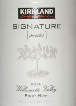 2014 Kirkland Signature Series Willamette Valley Pinot Noir