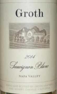 2014 Groth Napa Valley Sauvignon Blanc2014 Groth Napa Valley Sauvignon Blanc