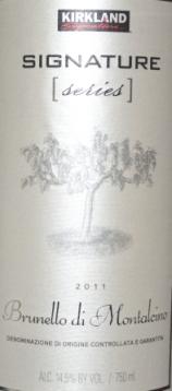 2011 Kirkland Signature Series Brunello di Montalcino
