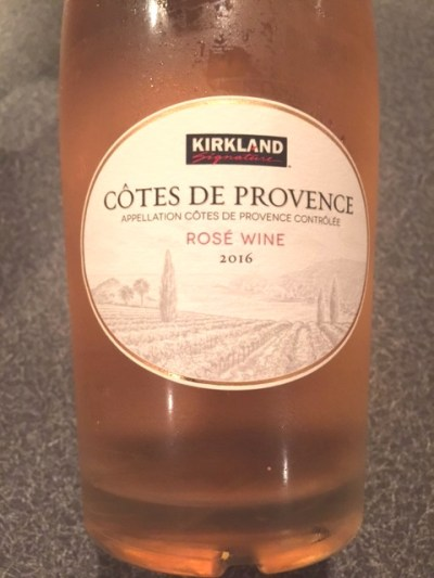 2016 Kirkland Signature Cotes de Provence Rose