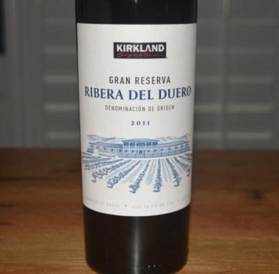 2011 Kirkland Signature Ribera del Duero Gran Reserva