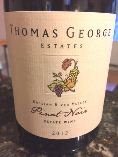 2012 Thomas George Estates Russian River Valley Pinot Noir