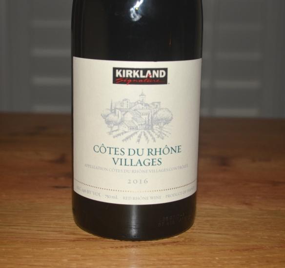 2016 Kirkland Signature Cotes du Rhone Villages