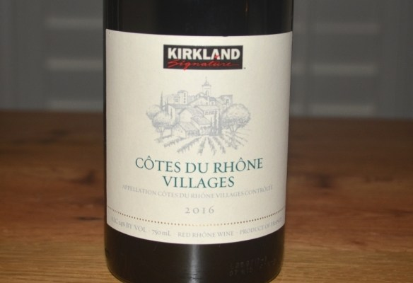 2016 Kirkland Signature Cotes du Rhone Villages