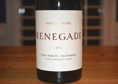 2015 Ancient Peaks Margarita Vineyard Renegade Paso Robles Red Blend